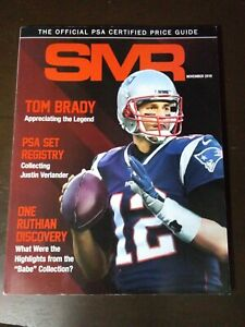 SMR Magazine Official PSA Price Guide TOM BRADY COVER ISSUE 2019 Football
