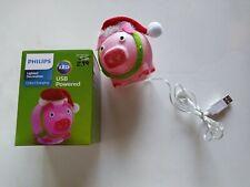 Christmas pig figure LED Decoration USB Philips Powered Color Changing ! NEW NIB