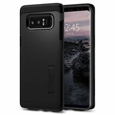 For Galaxy Note 8 Rugged Armor Shockproof Hybrid Case Cover with Kickstand Black
