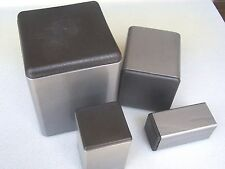 """Plastic Insert Plugs the open End of 1"""" Square Steel Tube 14-20 gage wall/ 4 PAK"""