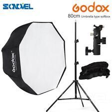 Godox 80cm Octagon honeycomb grid Umbrella Softbox+Light Stand+E Type Flash kit