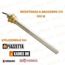 """RESISTENZA CANDELETTA ACCENSIONE STUFA PELLET 150mm 300W A VITE 3/8"""" GAS ."""