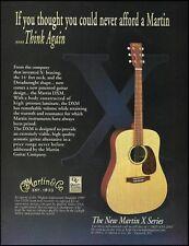The 1999 C.F. Martin X Series DXM guitar ad 8 x 11 advertisement