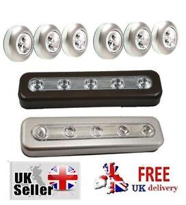 STICK ON LED LIGHTS BATTERY Ideal for under shelf lighting MINI SPOT Lofts NEW