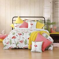 Flamingo Melon Duvet | Doona Quilt Cover Set by Bianca | Tropical Holiday Feel