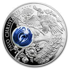 2017 Cook Islands Silver Royal Delft™ Peacock (Pavo Cristatus) - SKU #115828
