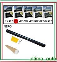 PROFESSIONALE ANTIGRAFFIO PELLICOLA OSCURANTE PER VETRI AUTO NERO 15% 76cm x 3m