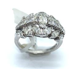 Unique Vintage Ring With Marqusie Diamonds