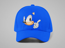 Child Boy Girl Royal Blue Cap Sonic t shirt Game Lover Birthday Gift Hedgehog