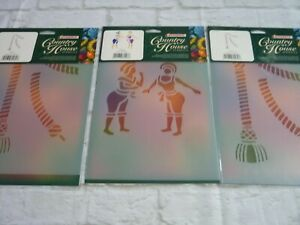 Stencil bundle lot humbrol country house bathing belles ropes tassels x2