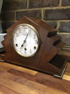 Vintage Art Deco Seikosha Mantle Clock Working