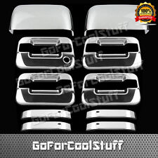 For Ford F-150 Xlt/Fx4 04-08 4Drs Handle W/O Psgkh+Tophalf Mirror Chrome Covers