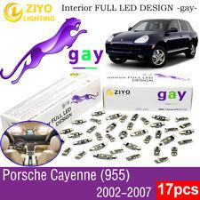 17 Bulbs Deluxe White LED Interior Light Kit For (955) 2002-2007 Porsche Cayenne