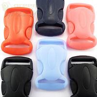 Plastic side release buckles clips for webbing 25 mm, single adjusting, AHK
