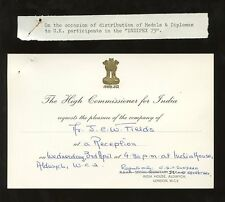 INDIA OFFICIAL LONDON 1974 METER FRANKING..HIGH COMMISSION INDIPEX 73 INVITATION