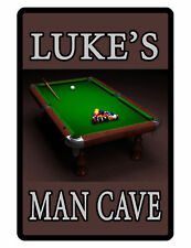 Personalized BILLIARDS ROOM MAN CAVE Sign Printed YOUR NAME CUSTOM SIGN POOL#093