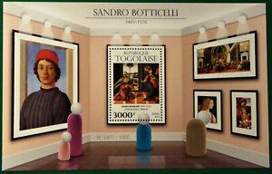 Togo 2015 Mi 7181 ** Bl. 1249 Sandro Botticelli Gemälde Kunst Art Paintings