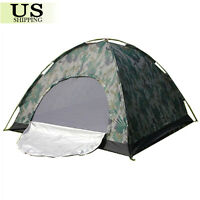 Camping Waterproof Outdoor 2 Person 4 Season Folding Tent Camouflage Hiking USA