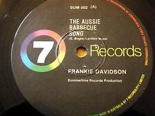 """FRANKIE DAVIDSON - THE AUSSIE BARBECUE SONG  7"""" VINYL"""