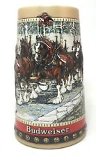 1988 Budweiser Holiday Stein Cobblestone Passage Vintage Christmas Mug