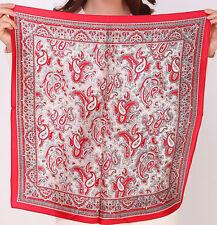 "100% Silk Scarves Women Bandana Scarf Shawls Headband Square 21"" Paisley Floral"