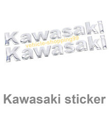 Kawasaki Sticker Logo Motorcycle Chrome Silver Tank Decal Emblem 3D Moto Badge