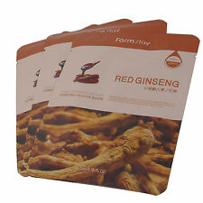 Farm Stay Visible Difference Facial Mask Sheet Red Ginseng_3pcs Korean Cosmetic