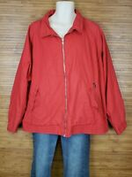 Faconnable Red Full Zip Jacket Mens Size 2XL