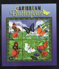 St Kitts 2001 Caribbean Butterflies Shoemakers Lace Wing MNH SG 597-602 Sc 487