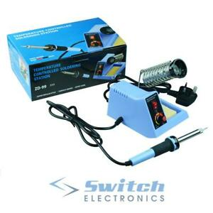 48W Temperature Adjustable Soldering Iron Station + Stand Solder Tool