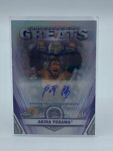 2021 Topps Chrome WWE Akira Tozawa Cruiserweight Greats Refractor Auto Signed 50