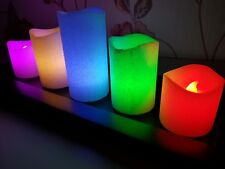 LED Colour Changing Glitter Candles Set Of 5 New - Ideal Christmas Gift Idea New