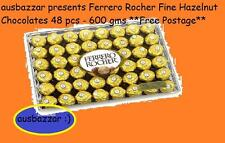 Ferrero Rocher Fine Hazelnut Chocolates 48 pcs - 600 gms **Free Postage**