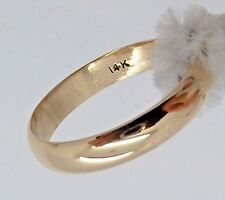 Solid 14k YELLOW GOLD 4mm Wide BAND 3.3g Ring Size 9