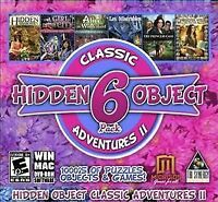 Hidden Object Classic Adventures II - 6 Game PC DISC ONLY NO CASE NO ART UNUSED
