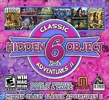 Hidden Object Classic Adventures II - 6 Pack - PC Games - BRAND NEW SEALED