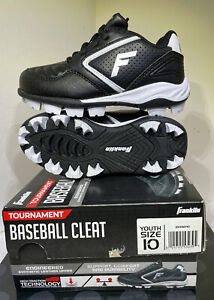 Franklin Youth Size 10 Tournament Baseball Cleat Boys Girls Shoes Toddler Sports
