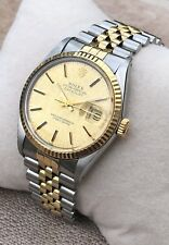 ROLEX OYSTER DATEJUST 18K AUTOMATIC WATCH, FULLY SERVICED - WITH WARRANTY
