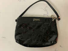 Authentic COACH Embossed Black Patent Leather Wristlet F43639