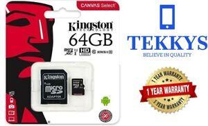 Kingston Micro SD  64GB SDHC Memory Card  Class 10