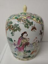 Seltener riesiger Deckeltopf - Ingwertopf, China oder Japan tolle Malerei