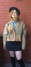 vintage 80s90s aztec cropped  jacket boho grunge festival size 20/22