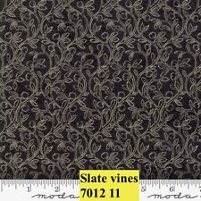 MODA HOME 100% cotton fabric by the yard - Fruitful Vines SLATE  Small Print