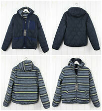 NEW LEE  2IN1 REVERSIBLE JACKET ALASKA LINING PRINT / NAVY PARKA QUILTED S SMALL