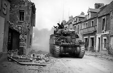 A4 Poster - World War 2 Tank in Action (Picture Military Army Art WW1 WW2)