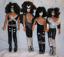 "Vintage 1977 Original Mego Kiss Set Of Four 12"""