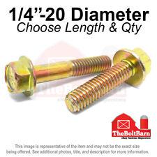14 20 Grade 8 Hex Flange Screws Frame Bolts Zinc Yellow Pick Length Amp Qty