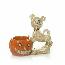 Yankee Candle Boney Bunch Bonesy Dog & Pumpkin Tea Light Holder! w/1 Tealight!