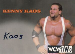 1998 Topps Wresting WCW/nWO Trading Card Authentic Signature Card Kenny Kaos**