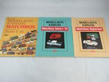 Matchbox Lesney Bernd Flober books set of 3 regular wheels and superfast